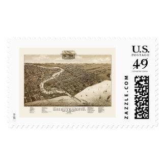 Sheboygan, WI Panoramic Map - 1885 Postage