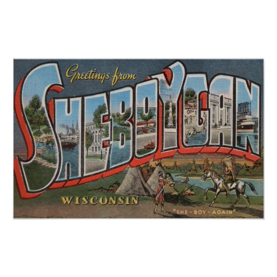 Sheboygan, Wisconsin (Indians # 1) Poster
