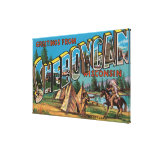 Sheboygan, Wisconsin (Indians # 2) Stretched Canvas Prints