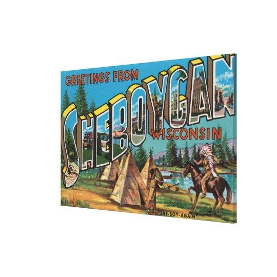 Sheboygan, Wisconsin (Indians # 2) Canvas Print