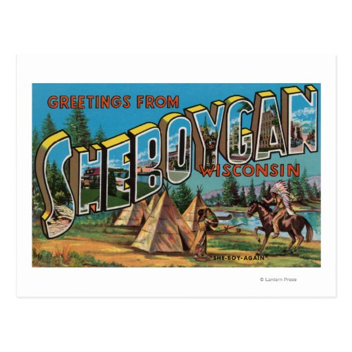 Sheboygan, Wisconsin (Indians # 2) Postcards