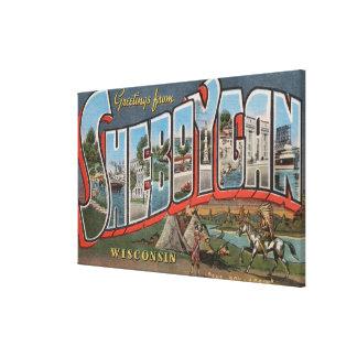 Sheboygan, Wisconsin (indios # 1) Lienzo Envuelto Para Galerias