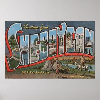 Sheboygan, Wisconsin (indios # 1) Póster