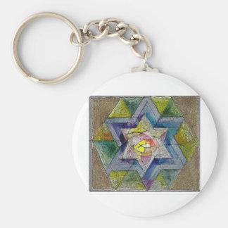 Shechina Basic Round Button Keychain