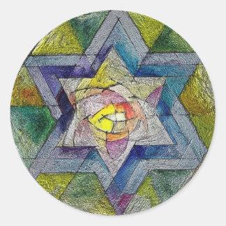 Shechina Classic Round Sticker