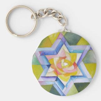 Shechinah Basic Round Button Keychain