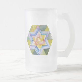 Shechinah Frosted Glass Beer Mug