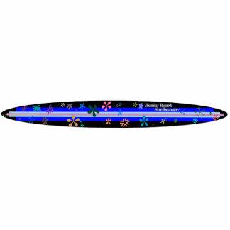 SheckShe* Bonini Beach Surfboards Blue Board Acrylic Cut Out