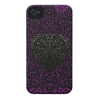 SheckShe.com Customizable Silver-Grey Purple Black iPhone 4 Cases