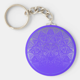 SHECKSHE.COM SheckShe* Heart Blue on Blue n Blue Basic Round Button Keychain