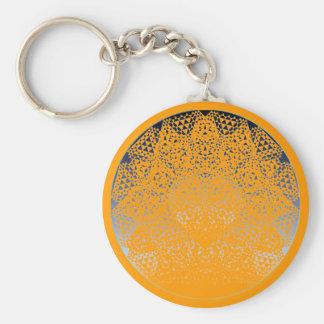 SHECKSHE.COM SheckShe* Heart Shiny Blue Norange Basic Round Button Keychain