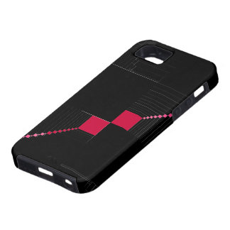 SheckShe Hot Pink Checkered Flag iPhone 5 GTA 500 iPhone SE/5/5s Case
