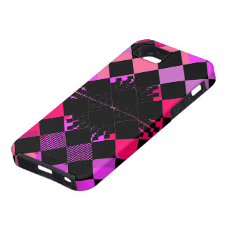SheckShe Hot Pink Checkered Flag iPhone 5 GTC 500 iPhone SE/5/5s Case