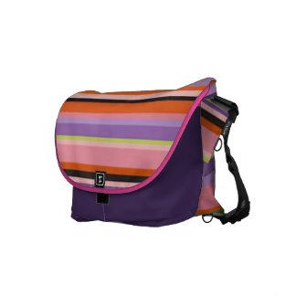 Shecky stripe messenger bag