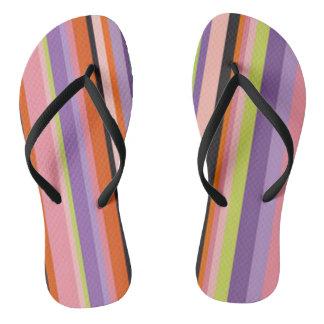Shecky Stripes Flip Flops
