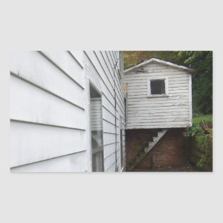 Shed on Hill Rectangular Sticker