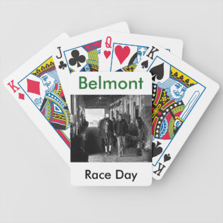 Shed Row at Belmont Park Bicycle Playing Cards