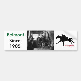 Shed Row at Belmont Park Bumper Sticker