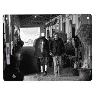 Shed Row at Belmont Park Dry Erase Board With Keychain Holder