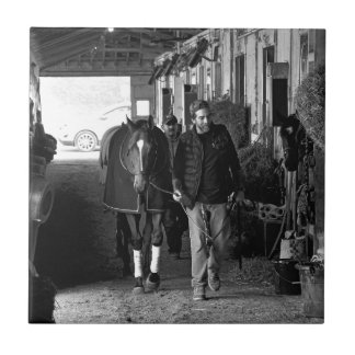 Shed Row at Belmont Park Tile