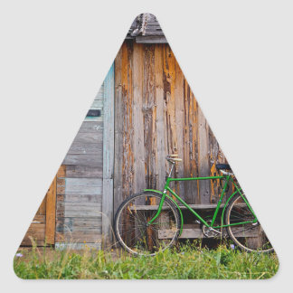 shed triangle sticker