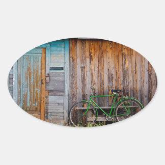 shed oval sticker