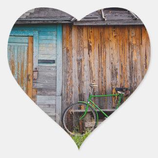 shed heart sticker
