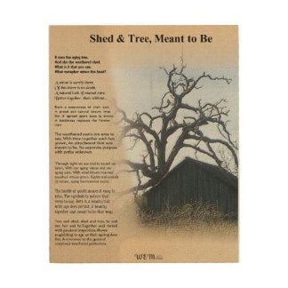 Shed & Tree - A Metaphor Wood Wall Art