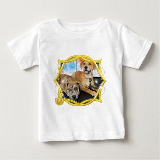 Sheeba and Dolly - Labrador and Pitbull Mix Baby T-Shirt