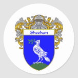 Sheehan Coat of Arms (Mantled) Classic Round Sticker