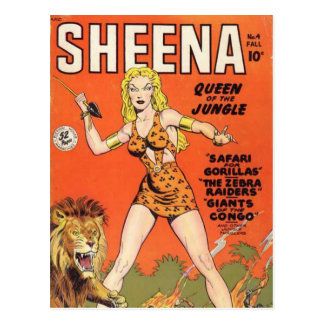 Sheena: Cómic de la mujer de la selva Postales