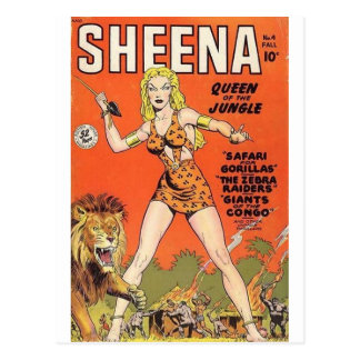 Sheena Jungle Warrior Postcard