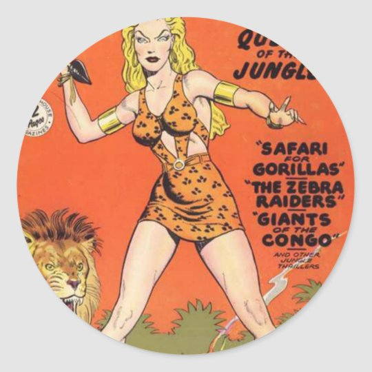 Sheena: Jungle Woman Comic book Classic Round Sticker