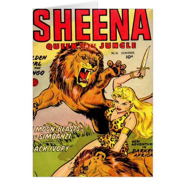 Sheena Queen of the Jungle Card