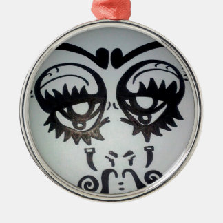 Sheena Tee's Face # TWO Metal Ornament