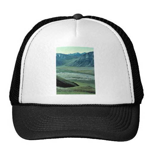 Sheenjek River Valley with dall sheep Mesh Hat