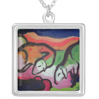 Sheep, 1912 silver plated necklace