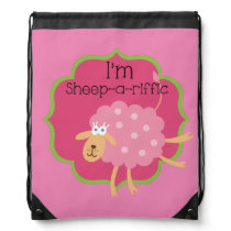 Sheep a Riffic Drawstring Bag