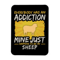 Sheep Addiction Funny Farm Animal Lover Magnet