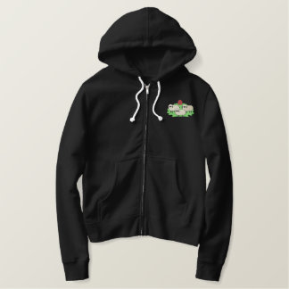 Sheep and Barn Embroidered Hoodie