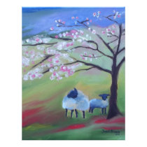 Sheep and Cherry Tree Letterhead