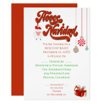 Sheep and Christmas Fleece Navidad Invitation