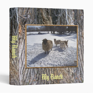 Sheep and Goats in April Snow 3 Ring Binder
