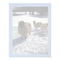 Sheep and Goats in April Snow Letterhead