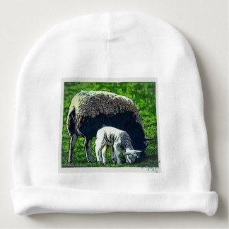 Sheep and lamb cartoon baby beanie