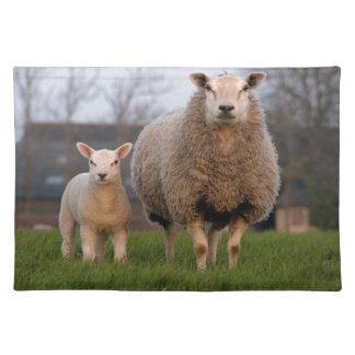 Sheep and Lamb Farm Animals Placemat