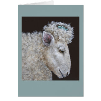 sheep and nest card