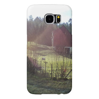 Sheep and red building samsung galaxy s6 case