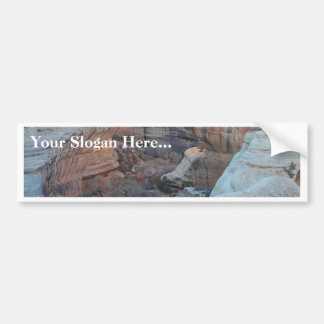 Sheep And Sheep Dog On Field Bumper Sticker