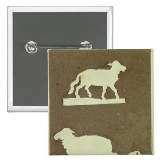 Sheep and Sheep with Lamb 2 Inch Square Button